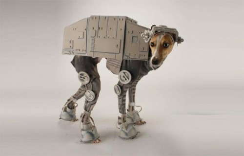 DIY Dog Halloween costumes, dog halloween costume DIY, star wars, at at