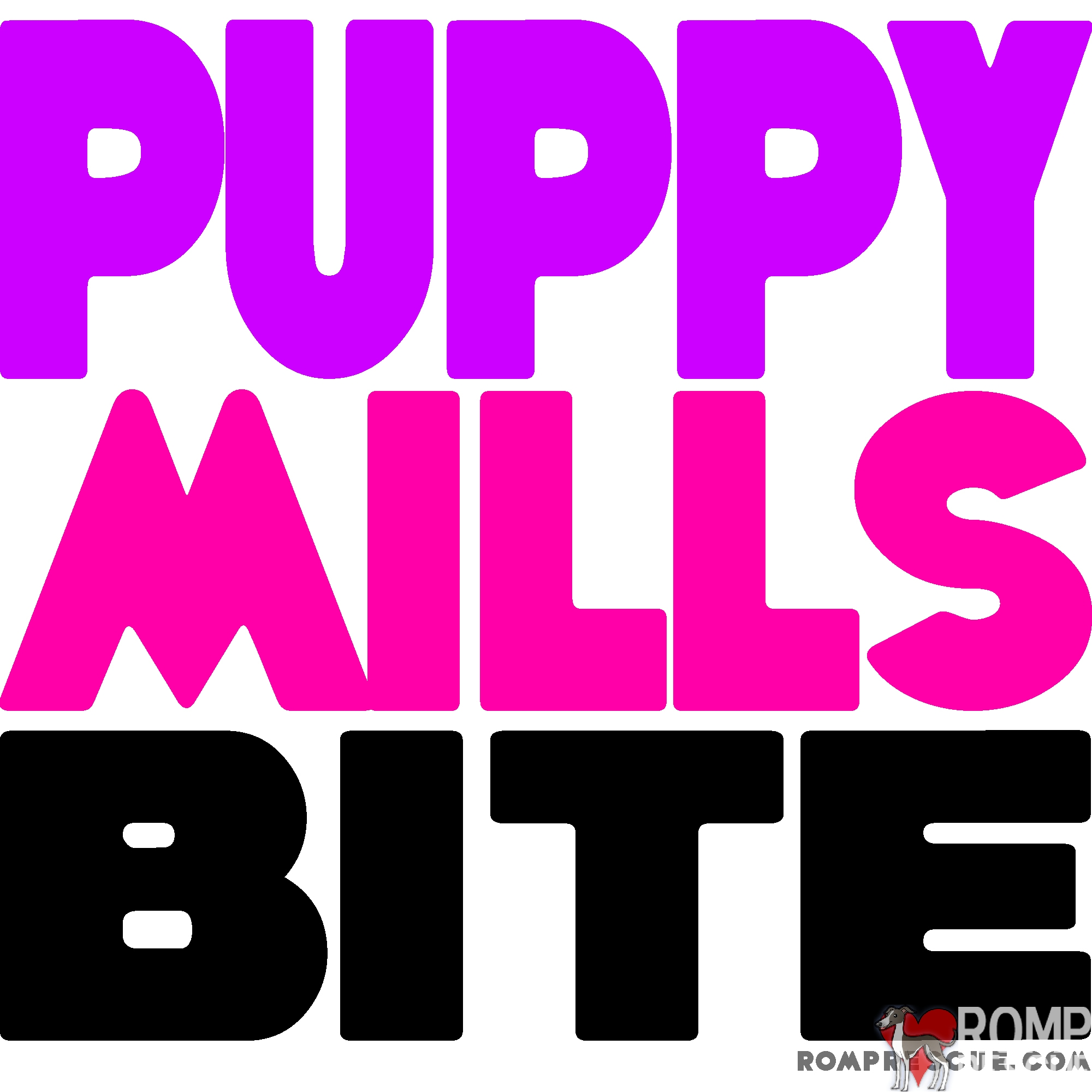 puppy mills bite, puppy mills, no, stop, dont, adopt, rescue, help, shirt, design, colorful, trendy, cool, neon